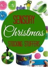 OT Corner: 30 Christmas Sensory Stocking Stuffers / Hanukkah Gifts for Special Needs Kids - pinned by