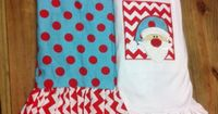 Red/Teal Santa Ruffle Pant Outfit by KrazyHeartStudios on Etsy, $46.00