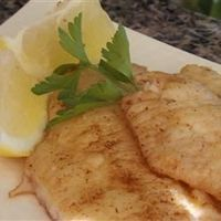 I have made this with both Monchong (local moist white fish) and also Mahi Mahi. The sauce is sooo good and the preparation is easy! Brown Butter Perch Allrecipes.com