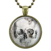 Skull Necklace, Gothic Jewelry, Goth Necklace, Halloween Necklace, Scary Spooky Pendant, Macabre Oddity Fashion $15.00