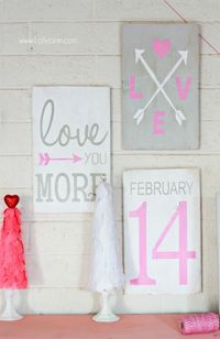 Hand painted Valentine's Day signs