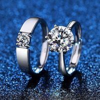 1.6 Carat Diamond Promise Rings Set for Couple https://www.gullei.com/1-6-carat-diamond-promise-rings-set-for-couple.html