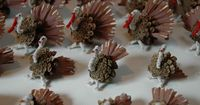 pinecone and turkey feather wreath - Google Search
