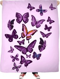Beauty Of Butterflies Fleece Blanket $65.00