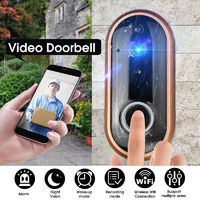 Smart Wireless WIFI Video Doorbell Night Vension Alarm Wake Up Recording Mode Security Door Phone
