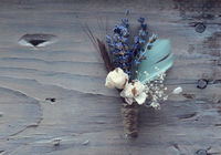 blue + feather