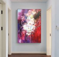 Flower oil painting Original palette knife white canvas Painting Wall Art wall Pictures for living room Home Decor quadro caudros decoracion $79.00