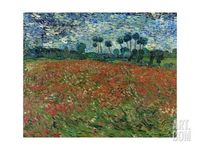 Poppy Field Giclee Print by Vincent van Gogh at Art.com