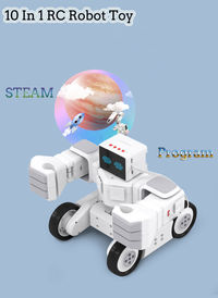 10 In 1 Makeblock STEAM Mapping RC Robot Programmable Education Kit Robot Toys