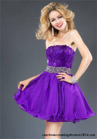 Short Purple Feather Jovani 89669 Homecoming Dress