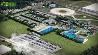The Best idea to present your entire site through Aerial view by architectural rendering studio USA