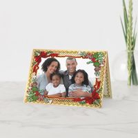Christmas Candy Garland Photo Greeting with Verse Holiday Card