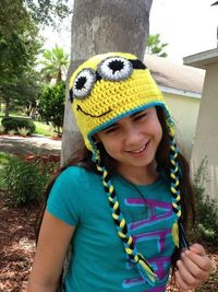 Despicable Me Minion hat (with a despicable child model and tutorial) - CROCHET