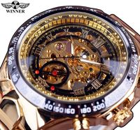 Sport Design Bezel Golden Watch Top Brand Luxury Montre Homme Automatic Skeleton Watch R499.75