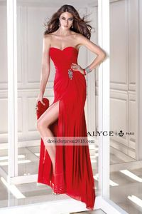Strapless Curve Kissing Gown Red Discount