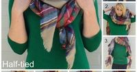 THREE WAYS TO WEAR A BLANKET SCARF - now I just need the scarf ;)