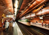 A steam-punk subway where time-travel seems possible. - photo from #treyratcliff at http://www.StuckInCustoms.com - all images Creative Commons Noncommercial