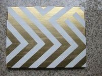 Painter's tape wall art - (with flashy gold!)