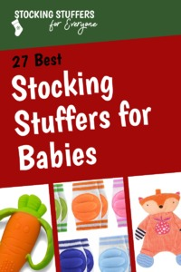 Babies can be hard to buy stocking stuffers for. Lots of ideas here! #christmas