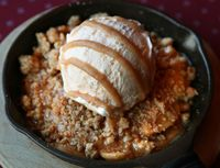 """Amy Chernouski, Racine, requested the recipe for """"Granny Smith Apple Cobbler"""" served at the Chancery restaurant in Racine, calling it """"the best apple cobbler my"""