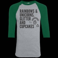 Rainbows & Unicorns. Glitter And Cupcakes. Youth Sporty T-Shirt