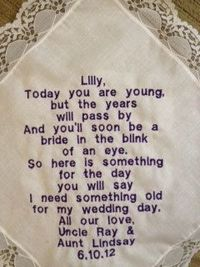 A gift for the Flower Girl so she'll have 'something old' someday for her own wedding