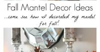See my glam Fall Mantel Decor ideas and 12 Fall DIY Projects, craft ideas and yummy recipes to fill your home with the smells and sights of Autumn!
