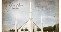 Boise LDS Temple Vintage Digital File With Name and Date July Special on Etsy, $10.00