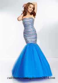 Mori Lee 95043 Beaded Fitted Mermaid Prom Gowns 2014