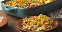 All of your favorite taco fixings can be found in this crowd-pleasing casserole. Plus, it uses convenience products like canned soup and veggies, cooked chicken