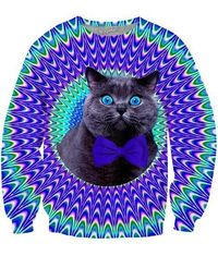 Crazy Cat Crewneck Sweatshirt $69.99