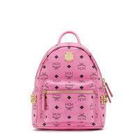 MCM Mini Stark Side Odeon Studded Backpack In Pink