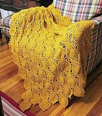 pineapple afghan - click on the link for the free pattern but I don't know how long this pattern will remain free - it looks like someone scanned a magazine page with the pattern on it.