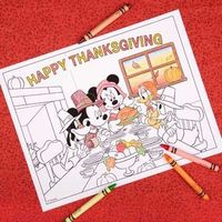 Work up an appetite with this Mickey & Friends Thanksgiving coloring page.
