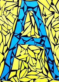 2nd Grade - Paper Mosaic - Contrast - Construction paper. Borrowed from wonderful http://dalimoustache.blogspot.com/