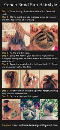 French Braided Bun Hair Tutorial | Hair and Beauty Tutorials
