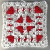 Unique crochet granny square