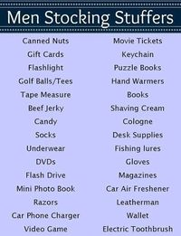 Stocking Stuffer Ideas for Men (125+ Total Ideas for All Ages) #Christmas by mslore1021