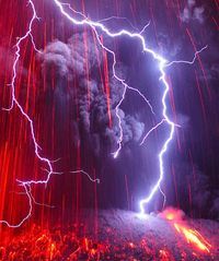 Photographer Martin Rietze's trip to the Sakurajima Volcano in Japan happened to coincide with a lightning show (caused by the volcano) that laste...