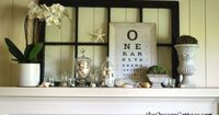 "Create a fun Summer Mantel with Shells, an Orchid & Eye Chart �€"" An Oregon Cottage"