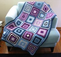 Lilac and blueberry granny square afghan - inspiration.