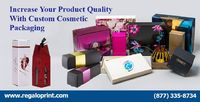 Increase Your Product Quality With Custom Cosmetic Packaging  #RegaloPrint #packagingboxes #packaging #boxes #printing #cosmeticboxes http://bit.ly/2TBU95x