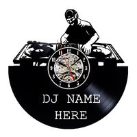 Unique Dj Name Design Vinyl Record Wall Clock Gift https://www.gullei.com/unique-dj-name-design-vinyl-record-wall-clock-gift.html