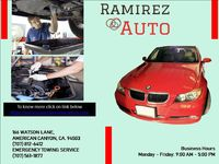 Ramirez Auto Repair is well-equipped and have substantial experience in providing excellent repair work for Brakes, Transmission, Engines, Auto Electrical Systems, and more. . To know more about us click on link below: https://ramirezautoameriancanyon.c...