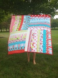 Gingersnaps Quilts: 100 Quilts For Kids So simple but high impact - could be adjusted to any size