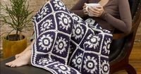 This free crochet pattern is reminiscent of a beautiful winter sky. Use it to curl up on the sofa in the winter time with a good movie and a cup of hot cocoa. F