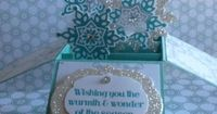 Card in a Box - Shari van Lankveld, This lovely card comes from a wonderful tutorial by Monica Gale. It folds flat so you can put it in an envelope. It's made using Coastal Cabana card stock and ink, silver glimmer paper and ink, Winter Frost dsp, Fes...