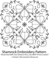 embroidery patterns, quilt block patterns and quilting patterns.