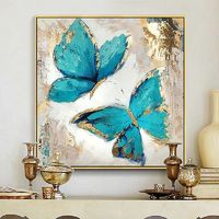 Turquoise Butterfly Canvas $39.99