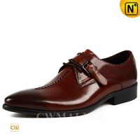 CWMALLS® Men Leather Monk Strap Loafers CW707503 [Patented Product, Valentine's Day 2018 Gift]